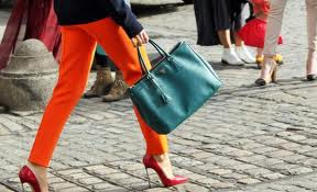 You don't always have to match your handbag to your shoes