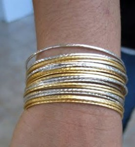 Mixing gold and silver can look elegant
