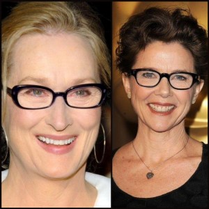Dark frames on Meryl Streep and Annette Bening