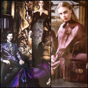 Etro and Mulberry ads