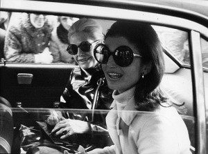Jackie made the, still popular, oval sunglasses chic.