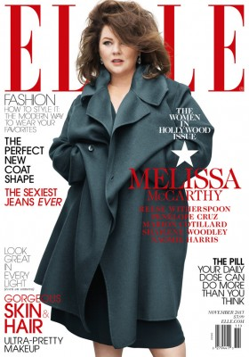 Melissa McCarthy on the cover of Elle