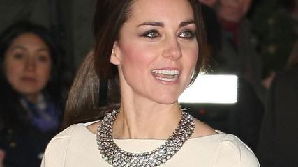 "Kate Middleton recently wore this necklace from Zara to the premiere of , ""Mandela, Long Walt to Freedom"". When the news got out the necklace quickly sold out."