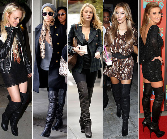 Over-the-knee boots are difficult for most to pull-off.