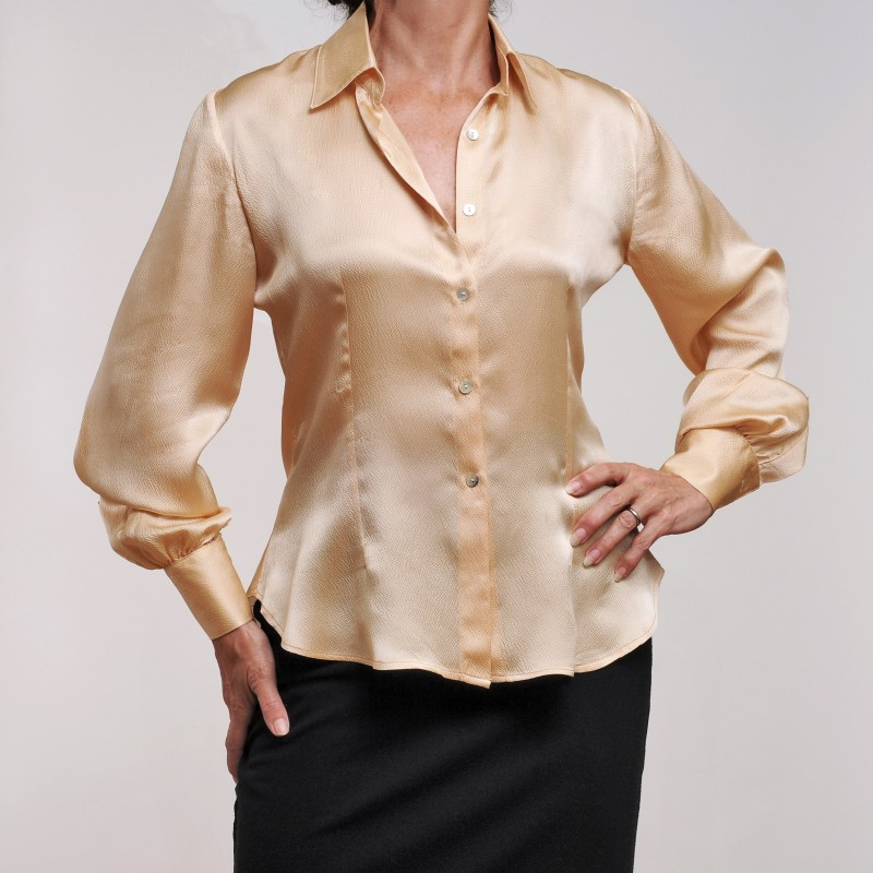 100% Gold Textured Silk $275