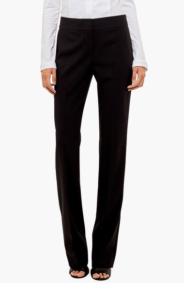 Akris straight leg wool trouser $395