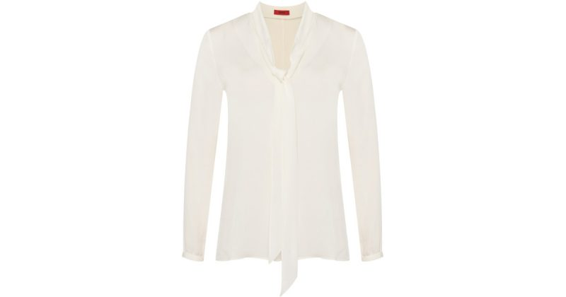 Hugo Boss Cimanu Silk Blouse $295