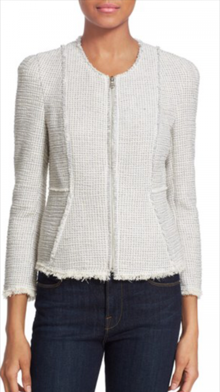 Rebecca Taylor Stretch Tweed Jacket $415