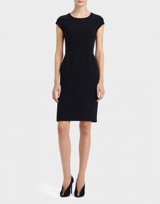 Lafayette 148 Misha dress is also available in ink. $498