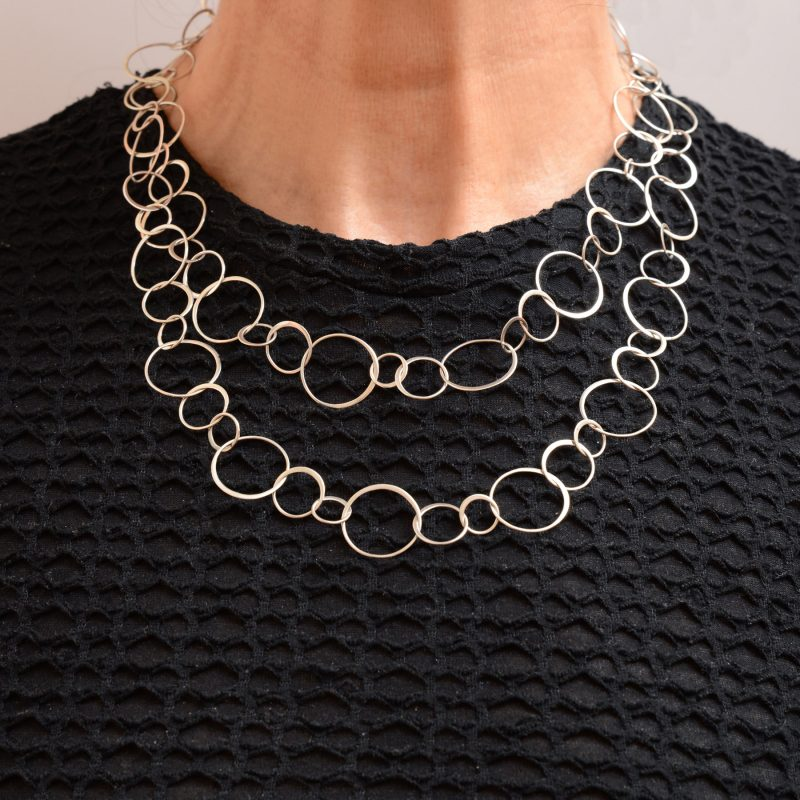 Wear it doubled with scoop or crew necklines