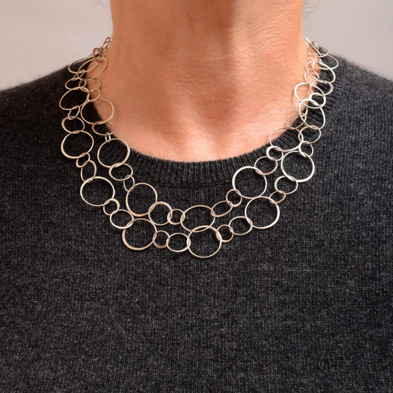 Wear these links double with crew or scoop necklines